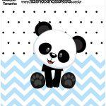 Molde Quadrado Panda Azul