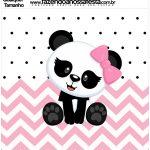 Molde Quadrado Panda Rosa Menina