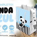 Panda Azul Kit Festa Grátis para Baixar e Imprimir em Casa