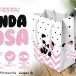 Panda Rosa Personalizados para Festa Infantil Grátis para Imprimir