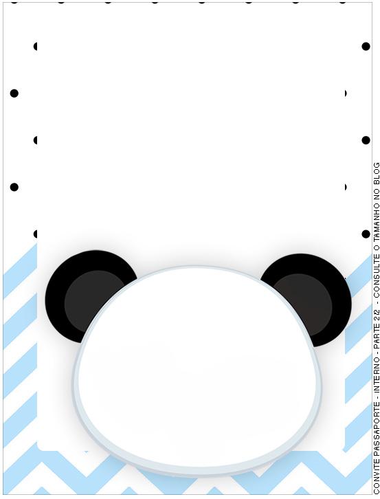Passaporte Interno Panda Azul