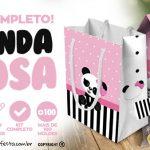 Panda Rosa Kit Festa Grátis para Baixar e Imprimir em Casa