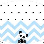 Placa Elipse Panda Azul