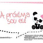 Plaquinha Panda Rosa 01