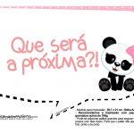 Plaquinha Panda Rosa 03