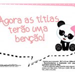 Plaquinha para festa Panda Rosa 04
