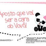 Plaquinha para festa Panda Rosa 05