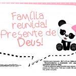 Plaquinha Panda Rosa 07