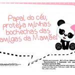 Plaquinha Panda Rosa 10