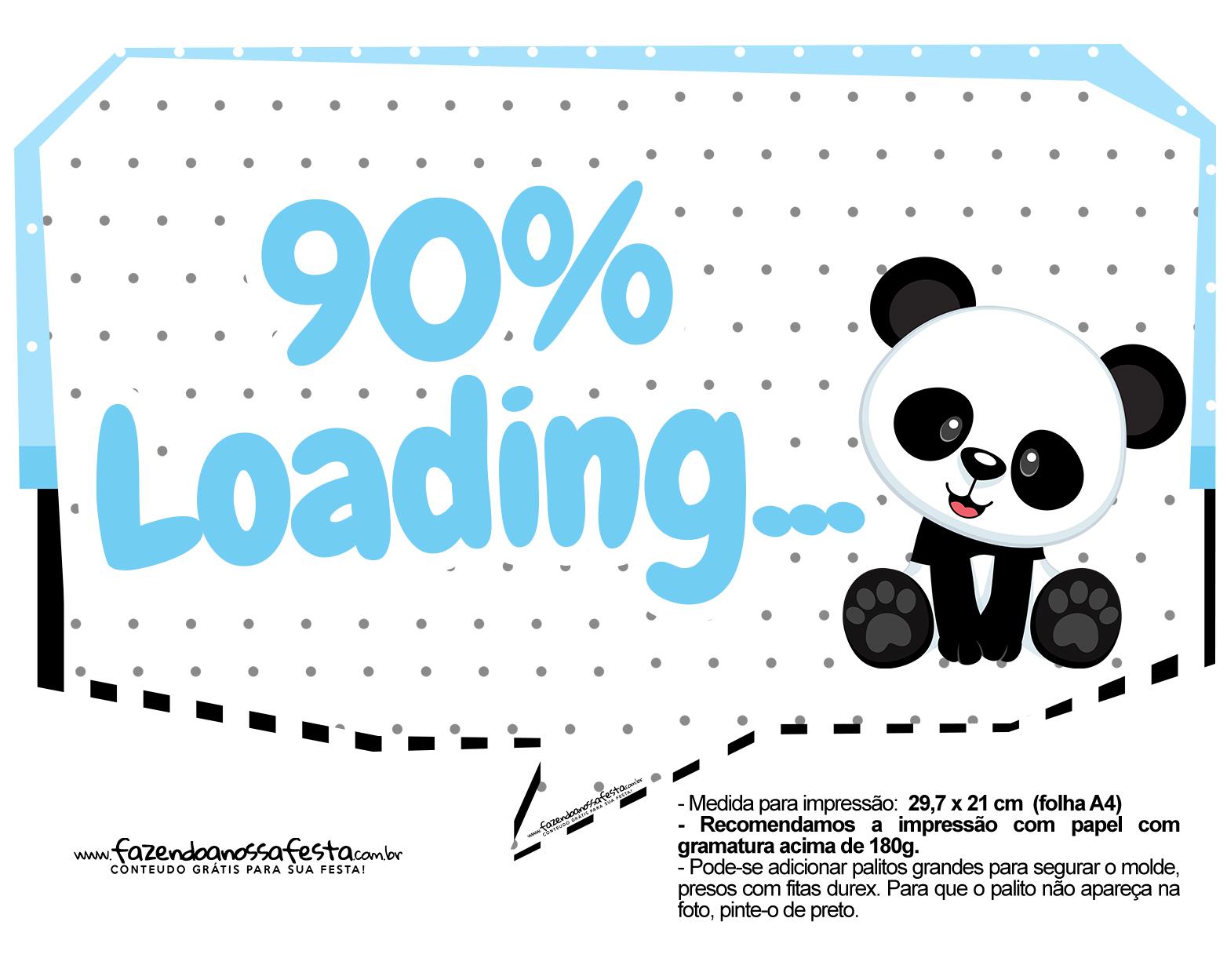 Plaquinhas Panda Azul 02