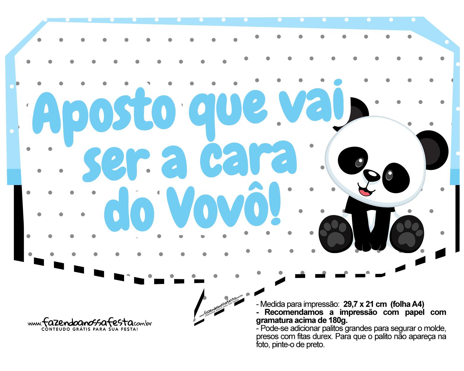 Plaquinhas Panda Azul 05