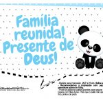 Plaquinhas Panda Azul 07