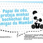 Plaquinhas Panda Azul 10
