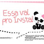 Plaquinha Panda Rosa 11