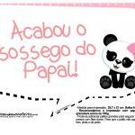 Plaquinhas para Festa Panda Menina 12