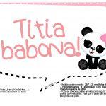 Plaquinha Panda Rosa 13