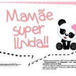 Plaquinhas para Festa Panda Menina 15