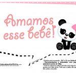 Plaquinhas para Festa Panda Menina 16