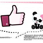 Plaquinhas para Festa Panda Menina 18