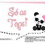 Plaquinhas para Festa Panda Menina 21
