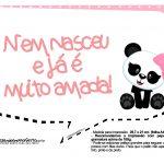 Plaquinhas para Festa Panda Menina 24