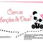Plaquinhas para Festa Panda Menina 25