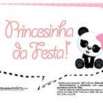 Plaquinhas para Festa Panda Menina 26