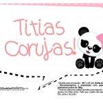 Plaquinhas para Festa Panda Menina 28