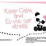 Plaquinhas para Festa Panda Menina 30