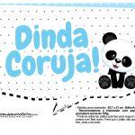 Plaquinhas para festa Panda Azul 14
