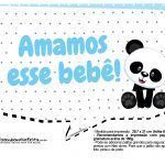 Plaquinhas para festa Panda Azul 16
