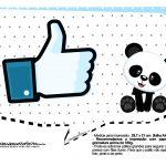 Plaquinhas para festa Panda Azul 18