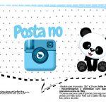 Plaquinhas para festa Panda Azul 19