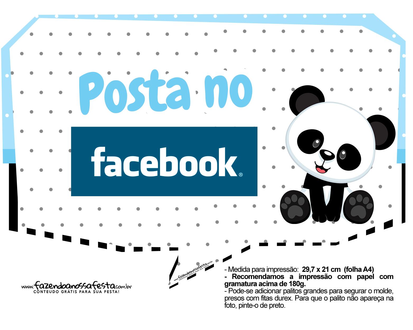 Plaquinhas para festa Panda Azul 20