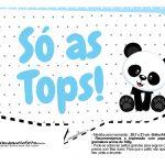 Plaquinhas para festa Panda Azul 21