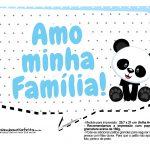 Plaquinhas para festa Panda Azul 22
