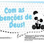 Plaquinhas para festa Panda Azul 25
