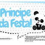 Plaquinhas para festa Panda Azul 26