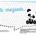 Plaquinhas para festa Panda Azul 27