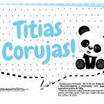 Plaquinhas para festa Panda Azul 11