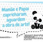 Plaquinhas para festa Panda Azul 29