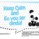 Plaquinhas para festa Panda Azul 24