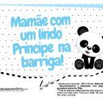 Plaquinhas para festa Panda Azul 31