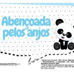 Plaquinhas para festa Panda Azul 32