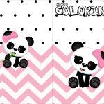 Revista Colorindo Panda Rosa Menina