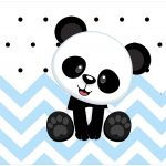 Rotulo Bolinha de Sabao Panda Azul