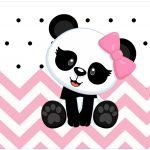 Rotulo Bolinha de Sabao Panda Rosa Menina