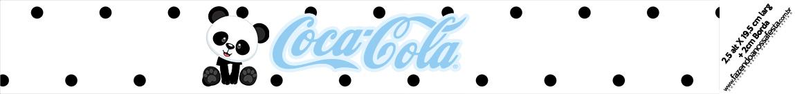 Rotulo Coca cola Panda Azul