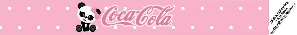 Rotulo Coca cola Panda Rosa