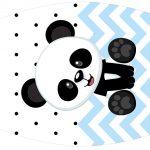 Rotulo Esmalte Panda Azul